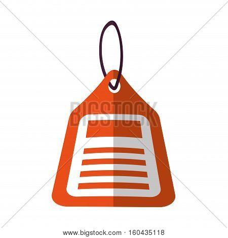 orange price tag sale blank color shadow vector illustration eps 10
