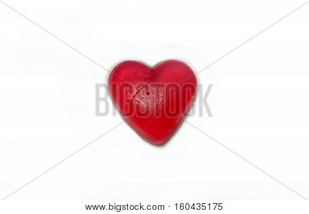 Cracked heart on white background. Breakup and end of relationship