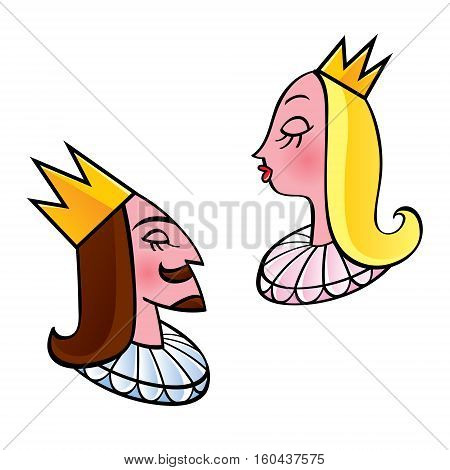 King and queen - crowned royal couple