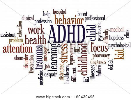 Adhd - Attention-deficit Hyperactivity Disorder, Word Cloud Concept 4