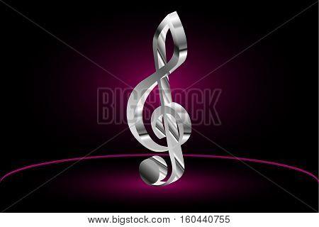 Violin key , music clef symbol ,