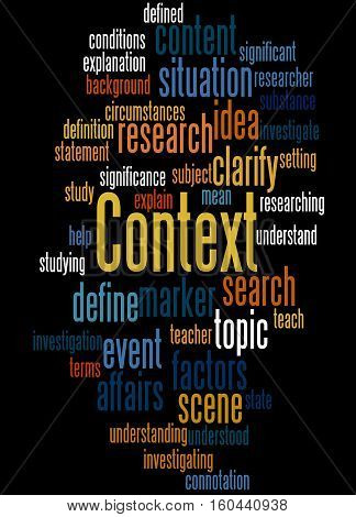 Context, Word Cloud Concept 6