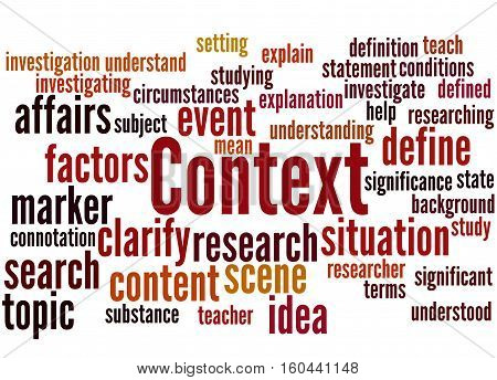 Context, Word Cloud Concept 7