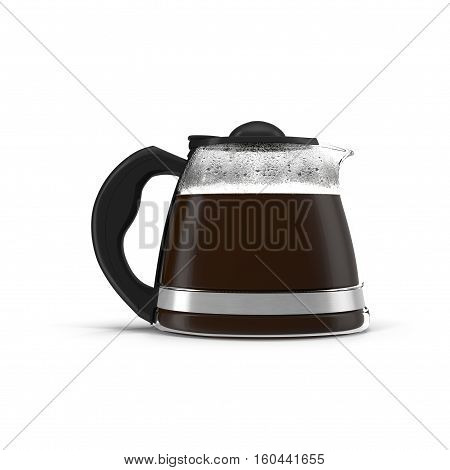 Coffee Carafe on white background. Side view. 3D illustration