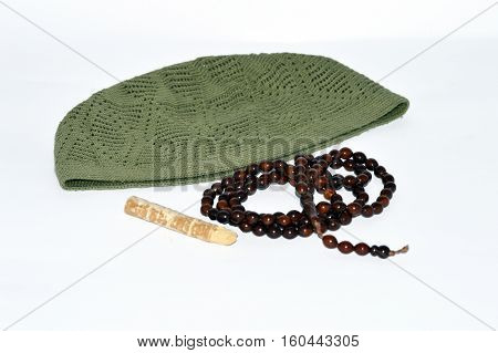Religious web sites and advertisements for prayer rugs, misvak takke and rosary pictures