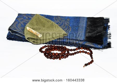 Prayer rugs and rosary pictures for religious websites and advertising agencies