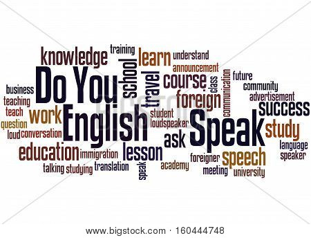Do You Speak English, Word Cloud Concept 2