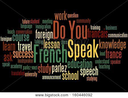 Do You Speak French, Word Cloud Concept 5