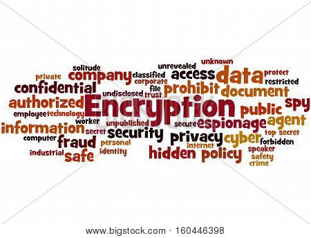 Encryption, Word Cloud Concept