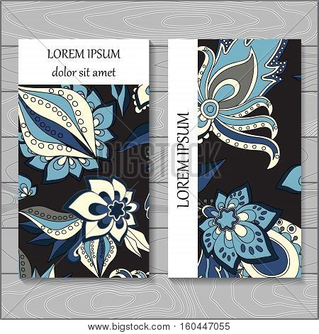 stock vector background. template for card cover poster. pattern with leaf flowers.