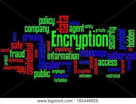 Encryption, Word Cloud Concept 5
