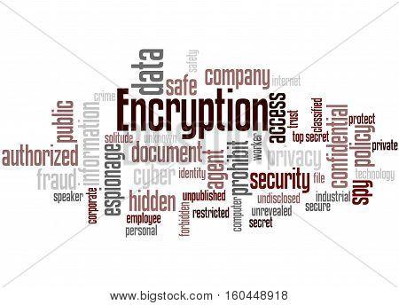 Encryption, Word Cloud Concept 6