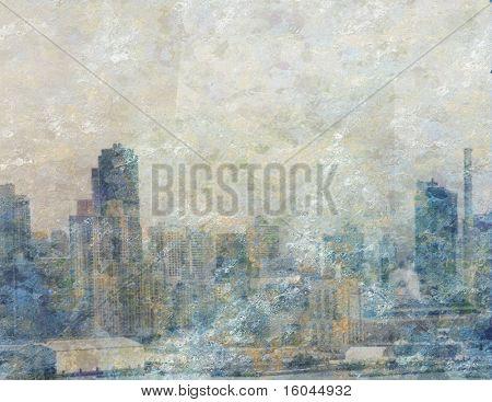 City Painting Bright