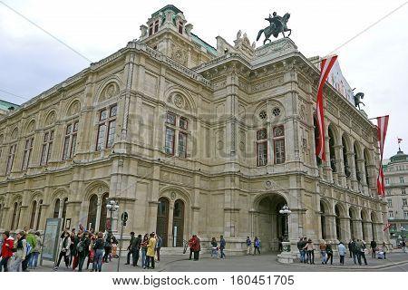 VIENNA, AUSTRIA - March 16, 2015: Vienna State Opera.