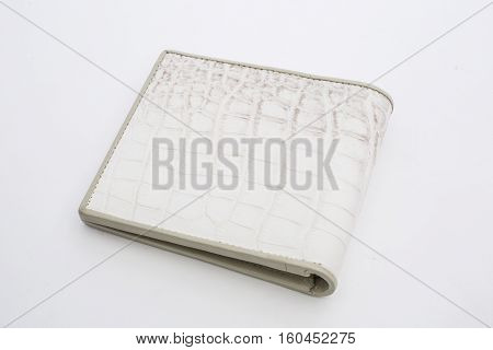 A Closeup to A White Empty Wallet