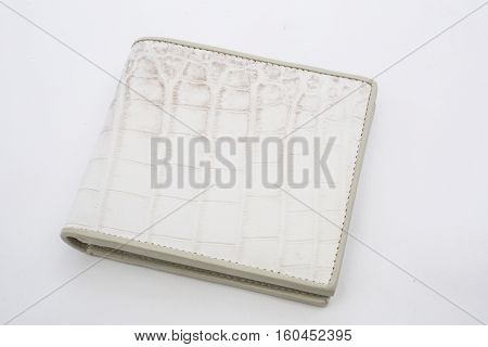A Closeup to An Empty white Wallet