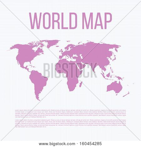Vector illustration of a world map. Stock vector