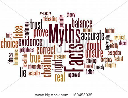 Facts - Myths, Word Cloud Concept 6
