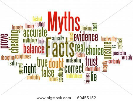Facts - Myths, Word Cloud Concept 7