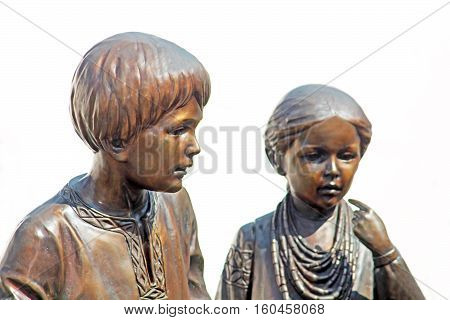 Monument of children (part of memorial monument to Taras Shevchenko), Vinnytsia, Ukraine