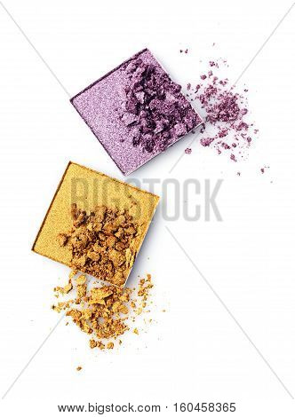 Crushed Golden And Violet Eye Shadow