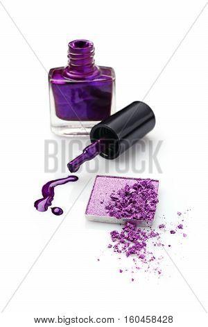 Violet Eyeshadow And Nail Polish
