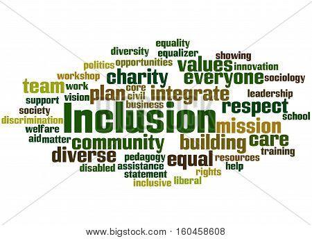 Inclusion, Word Cloud Concept 6