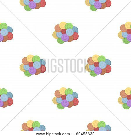 Ecstasy icon in cartoon style isolated on white background. Drugs symbol vector illustration. poster
