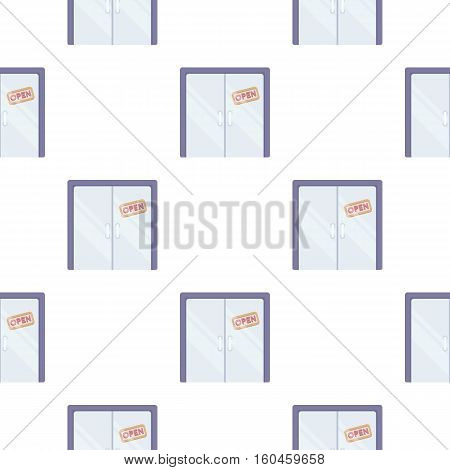 Open store icon in cartoon style isolated on white background. E-commerce symbol stock vector illustration.