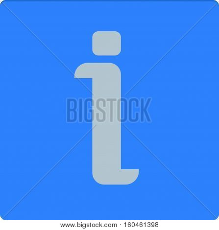 instruction, information button flat icon vector illustration