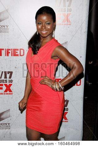 Erica Tazel at the season 3 premiere screening of FX's 'Justified' held at the DGA Theater in Hollywood, USA on January 10, 2012.