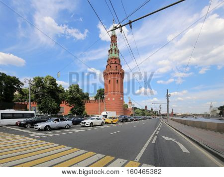 Moscow, Russia - June, 20 2016: View Of Moscow Kremlin On A Sunny Day, Russia-- Moscow Architecture