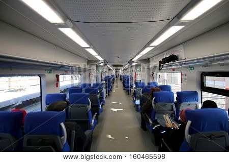 Moscow, Russia - October, 24 2016:  Modern High-speed Train