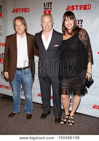 Neal McDonough at the season 3 premiere screening of FX's 'Justified' held at the DGA Theater in Hollywood, USA on January 10, 2012.