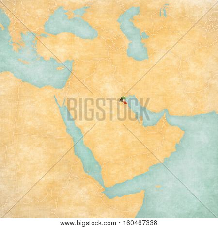 Map Of Middle East - Kuwait