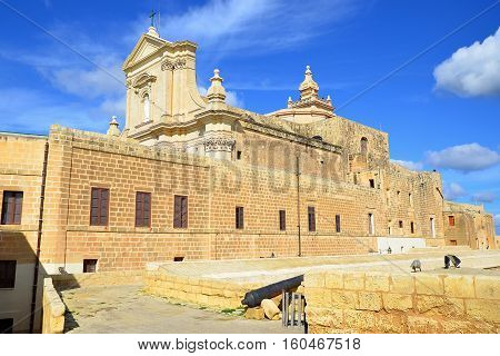 Cathedral of the Assumption of Gozo is a Roman Catholic cathedral in the Cittadella of Victoria in Gozo, Malta