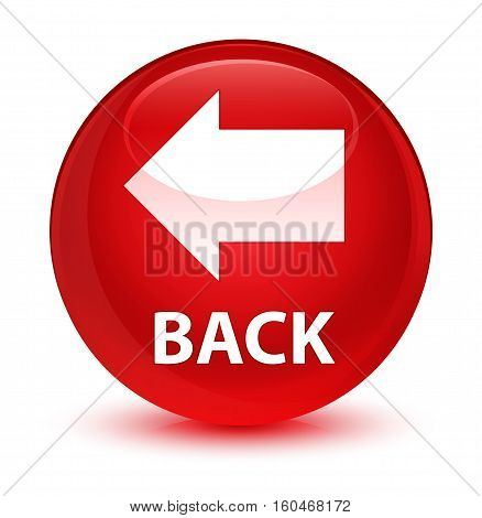 Back Glassy Red Round Button