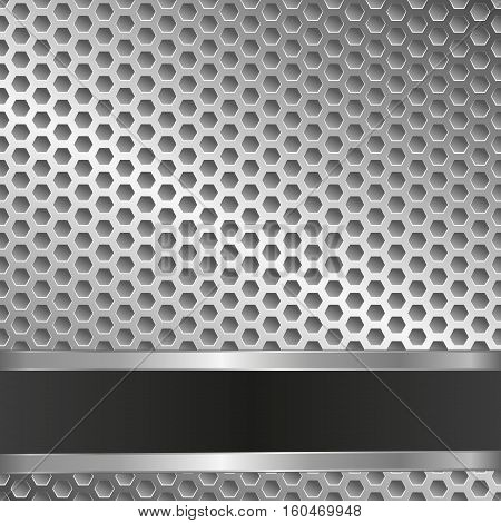metallic background with grate and copy space