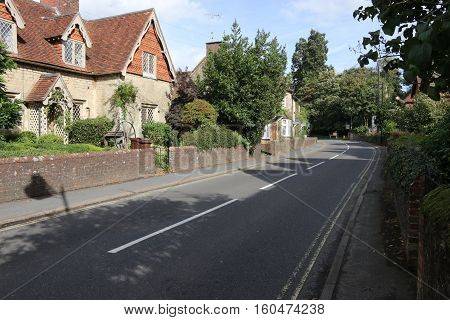 29TH SEPTEMBER 2016, LIPHOOK,ENGLAND: Traditional English old housing along a road in the village of Liphook in england, 29th september 2016