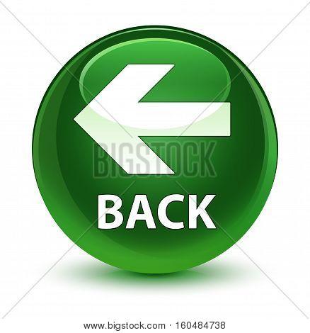 Back Glassy Soft Green Round Button