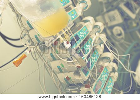 Transfusion of blood components to the patient