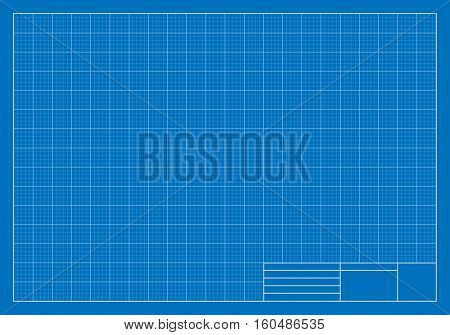Vector Illustration of a Drafting Blueprint. Best for Architecture, Construction, Backgrounds, Design, Planning Concept.