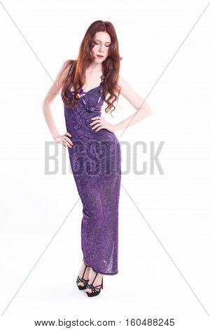 Front View Of Isolated Fashion Model