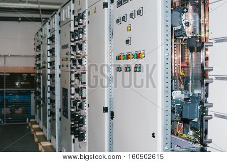 Low voltage cabinet. Uninterrupted power. Electrical power.
