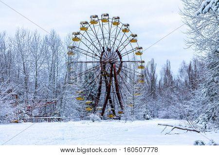 Ferris Wheel In Pripyat..