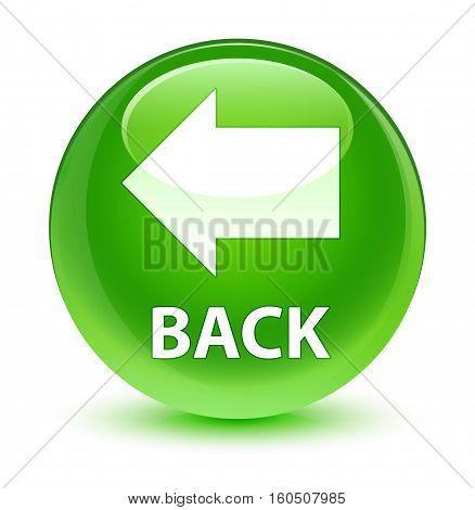 Back Glassy Green Round Button