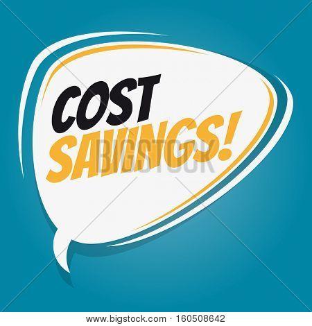 cost savings retro speech balloon