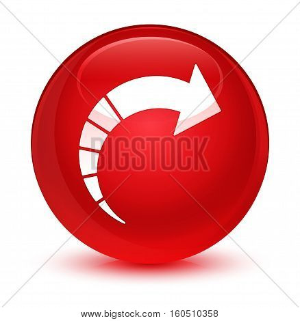 Next Arrow Icon Glassy Red Round Button