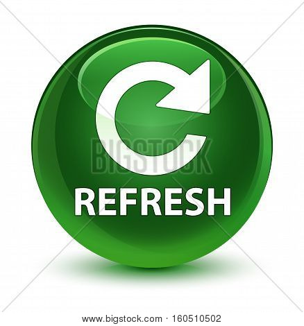 Refresh (rotate Arrow Icon) Glassy Soft Green Round Button