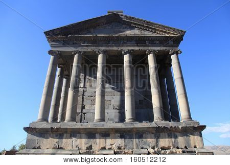 Ancient Garni Pagan Temple the hellenistic temple in Republic of Armenia